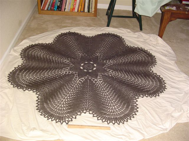 Blocking at last!! Hemlock Ring Blanket