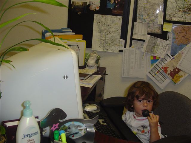 Life Dull?  Take a Two Year old to work. (Saturday's post)